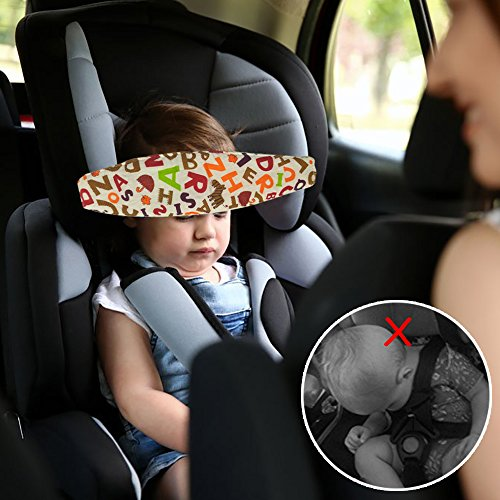 Inchant Carseat Head Neck Support,Adjustable Infants and Baby Sleep Neck Relief,U-Shape Stroller Head Support Sleep Holder.Offers Protection for Kids